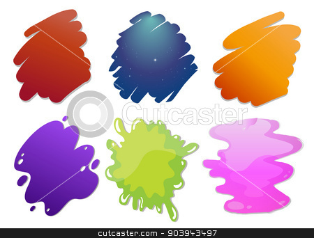 Colorful wave lines stock vector clipart, Illustration of the colorful wave lines on a white background by Matthew Cole