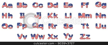 Letters of the alphabet stock vector clipart, Illustration of the letters of the alphabet on a white background by Matthew Cole
