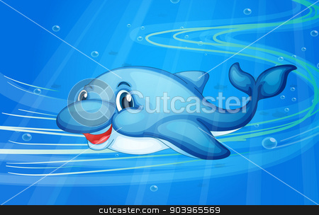 a fish stock vector clipart, illustration of under water fish by Matthew Cole