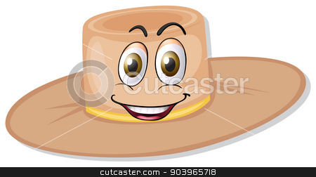 a hat stock vector clipart, illustration of a hat on a white background by Matthew Cole