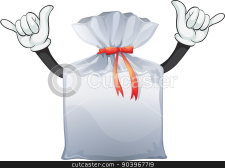 A pouch stock vector clipart, Illustration of a pouch on a white background by Matthew Cole