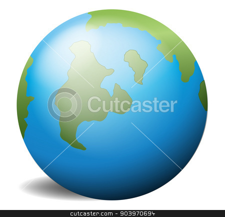 The earth stock vector clipart, Illustration of the earth on a white background by Matthew Cole