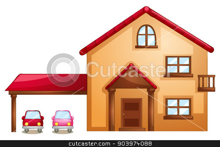 building stock vector clipart, illustration of building on a white background by Matthew Cole