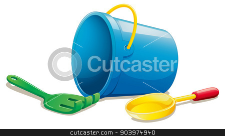 various objects stock vector clipart, illustration of various objects on a white by Matthew Cole