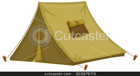 tent stock vector clipart, Illustration of an isolated tent by Matthew Cole