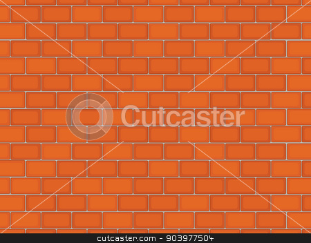 Brick wall stock vector clipart, Illustration of a brick texture by Matthew Cole