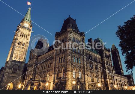 Canada Parliament Building stock photo, Canada Parliament Building at sunrise. Ottawa, Ontario, Canada. by Henryk Sadura