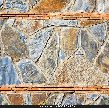rocks stone and red orange gneiss in the wall of morocco stock photo, rocks stone and red orange gneiss in the wall of morocco by mason luca