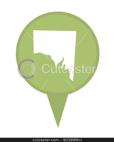 Southern Australia State map marker pin stock photo, Southern Australia State map marker pin isolated on a white background. by Martin Crowdy