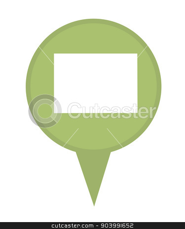 State of Colorado map pin stock photo, American state of Colorado marker pin isolated on a white background. by Martin Crowdy