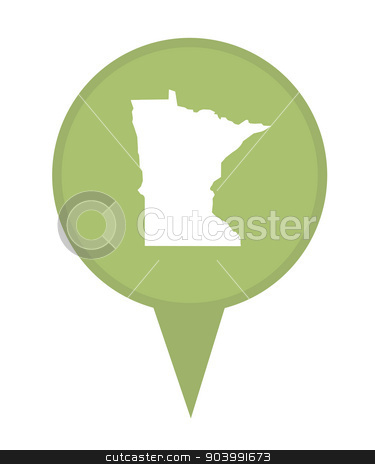 State of Minnesota map pin stock photo, American state of Minnesota marker pin isolated on a white background. by Martin Crowdy