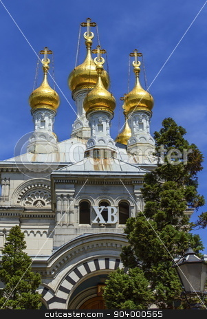 Russian or orthodox church, Geneva, Switzerland stock photo, Russian or orthodox church by day, Geneva, Switzerland by Elenarts