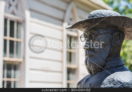 Father Damien Statue stock photo, St. Joseph's Church statue of Father Damien by Scott Griessel