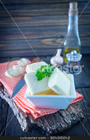 cheese stock photo, cheese in the bowl and on a table by tycoon