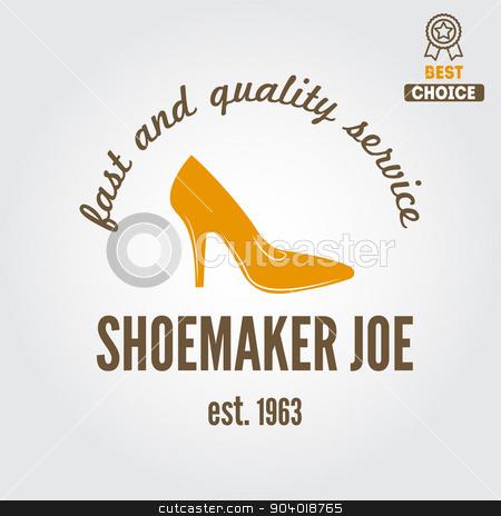 Vintage logo, badge, emblem or logotype elements for shoemaker