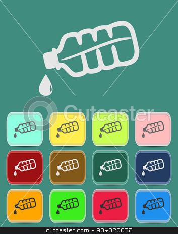 Drop bottle icon Illustration stock vector clipart, Drop bottle icon Illustration with Color Variations Vector by Liudmila Marykon