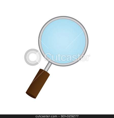 Magnifying Glass on white background. Eps 10 stock vector clipart, Magnifying Glass on white background. Eps 10. by Liudmila Marykon