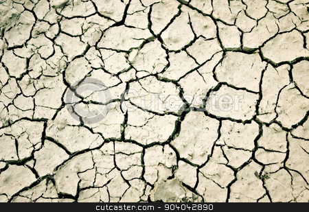 The cracks texture. stock photo, Vector illustration with cracks in the ground and dust  by sermax55