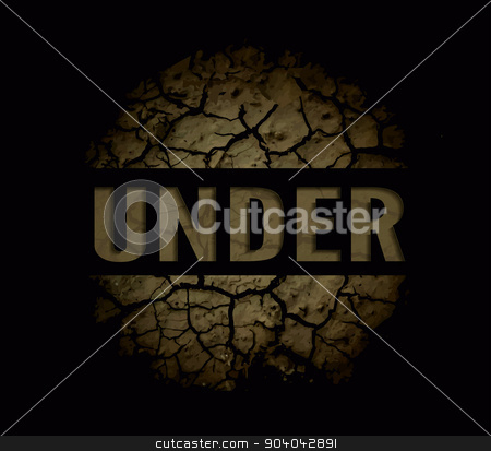 The cracks texture. stock photo, The cracks texture. Vector background on black by sermax55