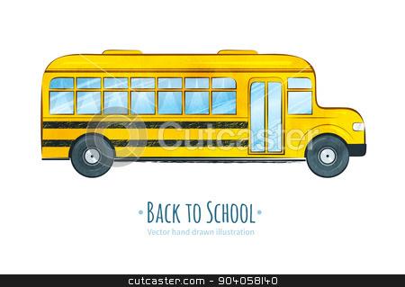 School bus.  stock vector clipart, Hand drawn vector illustration of  School bus.  by Sofya Golovanova