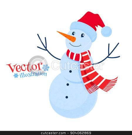 Cute snowman. stock vector clipart, Vector illustration of cute snowman. by Sofya Golovanova