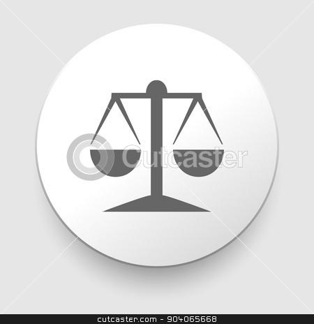 Vector icon of justice scales stock vector clipart, Vector icon of justice scales. EPS10 illustration by Liudmila Marykon