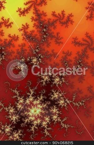 Dark Red Fractal stock photo, Fractal background in the different shades of dark red. by Henrik Lehnerer