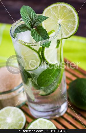 Mojito Drink stock photo, Mojito Lime Drink Cocktail by Karol Czinege