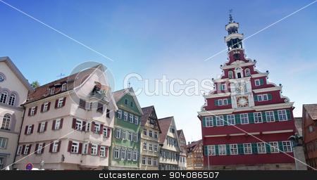 Esslingen am Neckar, Baden Wurttemberg, Germany stock photo, Marktplatz, Rathaus in Esslingen am Neckar, Baden Wurttemberg, Germany by vladacanon1