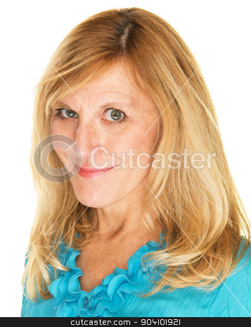 Close Up of Flirting Lady stock photo, Close up of flirting European woman with grin by Scott Griessel