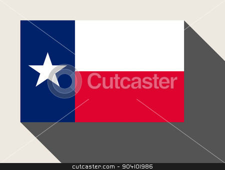 American State of Texas flag stock photo, American State of Texas flag in flat web design style. by Martin Crowdy