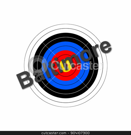 Baltimore Target stock photo, Target background with the writing Baltimore over it. by Henrik Lehnerer