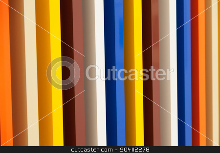 Colorful Background stock photo, Several colors in prospective painted on wood columns by Paolo Gallo