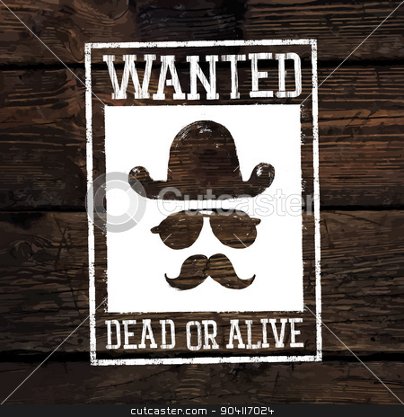 Old styled wild west poster