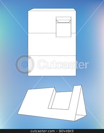 Business card display box box with blueprint layout business card box with blueprint layout business card holder and die cut pattern malvernweather Image collections