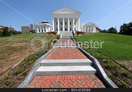 Virginia State Capitol Building stock photo, The Virginia State Capitol Building in Richmond by Lucy Clark