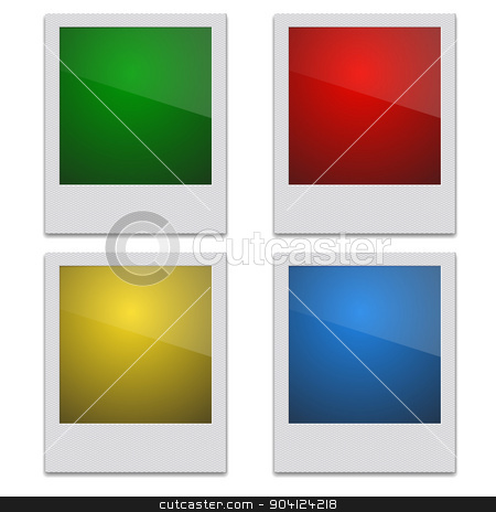Set Retro Photo Frame Polaroid  On White Background. Vector illu stock vector clipart, Set Color Retro Photo Frame Polaroid  On White Background. Vector illustration by aarrows