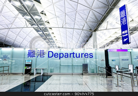Airport Departure and Arrival sign  stock photo, Airport Departure and Arrival sign at hong kong by Keng po Leung