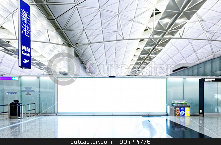 Large signboard in airport departure area stock photo, Large signboard in airport departure area, hong kong by Keng po Leung