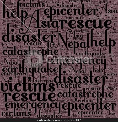 Nepal Earthquake Tremore stock photo, Neap Earthquake Tremore word salad cloud illustration. by Henrik Lehnerer