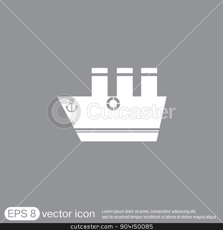 sailing ship symbol . icon boat steamer.  sailboat sign stock vector clipart, sailing ship symbol . icon boat steamer.  sailboat sign by LittleCuckoo
