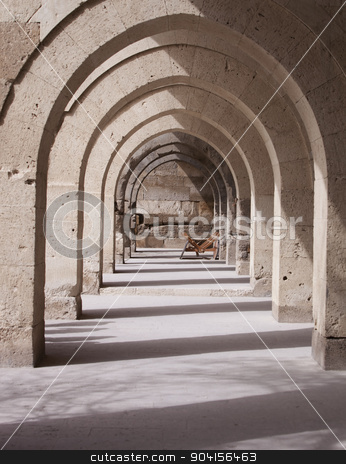 Turkish Architectural Arches stock photo, Architectural stone arches on building exterior in Turkey by Scott Griessel