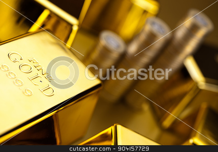 Money, coins and gold, ambient financial concept stock photo, Money, coins and gold, ambient financial concept by Sebastian Duda