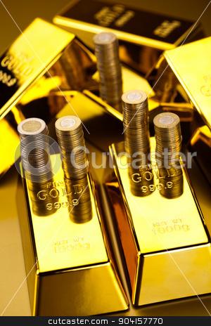 Golden Bars, ambient financial concept stock photo, Golden Bars, ambient financial concept by Sebastian Duda