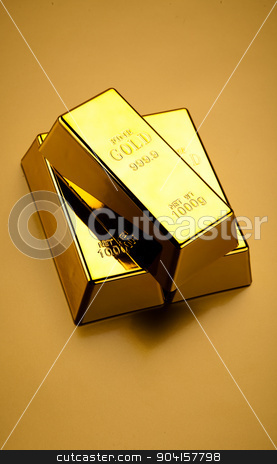 Gold and money, ambient financial concept stock photo, Gold and money, ambient financial concept by Sebastian Duda
