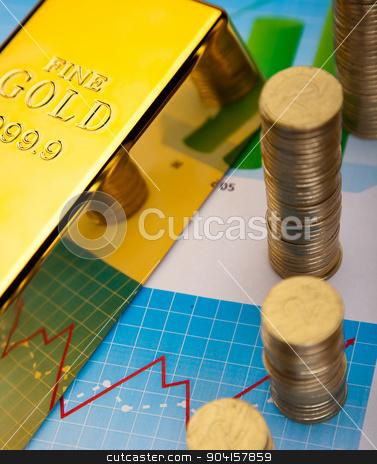 Golden Bar, ambient financial concept stock photo, Golden Bar, ambient financial concept by Sebastian Duda
