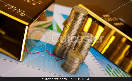 Gold background, ambient financial concept stock photo, Gold background, ambient financial concept by Sebastian Duda
