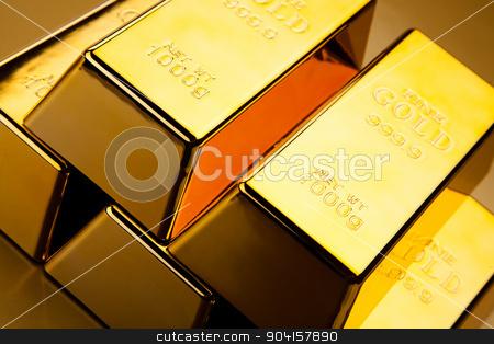 Gold and money, ambient financial concept stock photo, Gold and money, ambient financial concept by Sebastian Duda