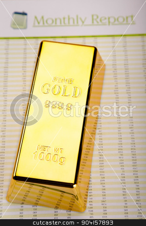 Golden Bars, ambient financial concept stock photo, Golden Bars, ambient financial concept by Sebastian Duda