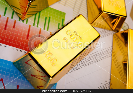 Gold and coins, ambient financial concept stock photo, Gold and coins, ambient financial concept by Sebastian Duda